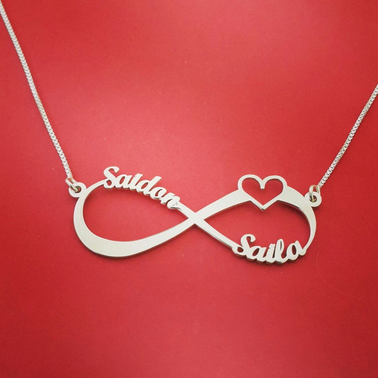 infinity heart necklace infinity necklace with heart christmas. Black Bedroom Furniture Sets. Home Design Ideas