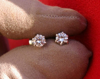 Diamond Earrings, Diamond Chips, Diamond Nails, White Gold, 0.55 ct, Quality Diamonds, Free Shipping