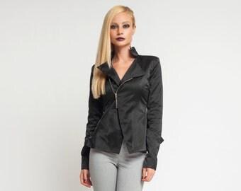 Black Womens Jacket, Suit Jacket, Plus Size Jacket, Cropped Jacket, Fall Jacket, Fashion Jacket, Minimalist Jacket, Steampunk Jacket