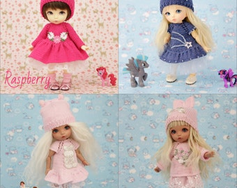 Cute Outfits for 1/8 BJD dolls  (Styles: Raspberry, Star, Rabbit, Romantic)