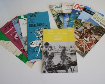 11 Travel & Hotel Brochures for Barbados and Other Caribbean Locations 1960s vintage ephemera