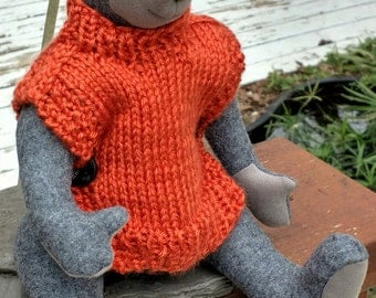 Elias - Handmade Fully Jointed Bear with Sweater