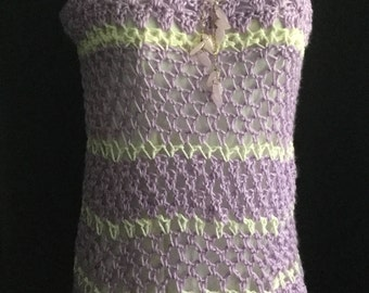 Crocheted tunic sweater vest size small