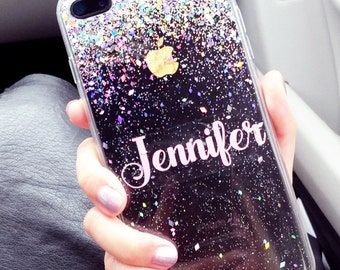 Silver Glitter Phone case iPhone 7 case iPhone 7 Plus case iPhone 6S case iPhone 6S Plus case iPhone 8 case iPhone 8 Plus case iPhone x case