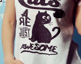 Cats Are Just Awesome T-shirt (0058L)
