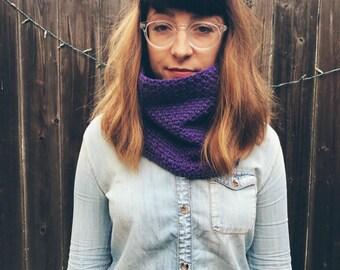 Handmade Purple Grape Plum Cowl Scarf Crochet