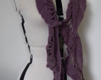Paisley scarves in mohair mix yarn
