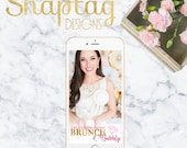 Custom Snapchat Geofilter|| bridal shower, engagement, custom, filter, bachelorette, gold, champagne, bubbly, brunch, bride to be