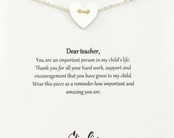 Teacher gifts, teacher Personalized Gift, teacher necklace, Gifts for Teachers Appreciation, thank you teacher, teacher appreciation
