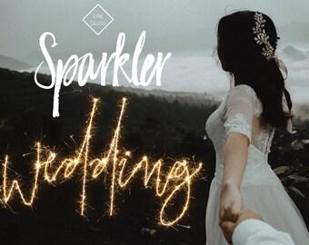 Wedding Sparkler Overlays - Digital Sparklers Photo Overlay Love Newlywed Married Bridal Photography Photoshop Clipart Firework Bride
