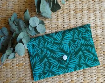 Pocket envelope jungle, tropical, green