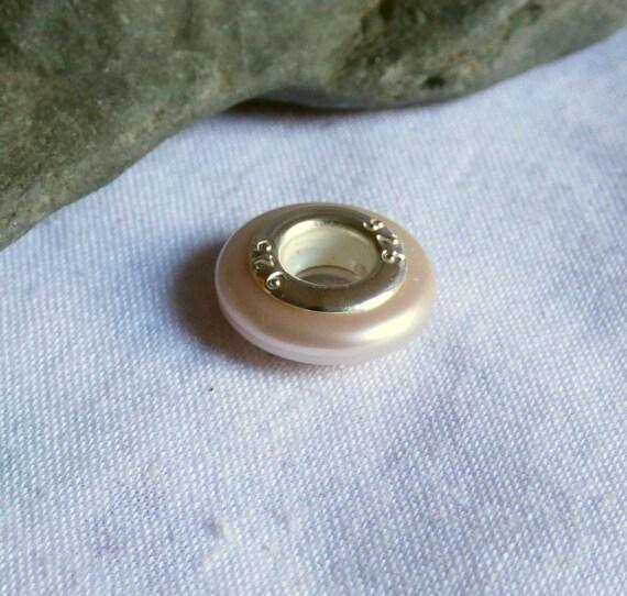 Pearl Charm Bead, Freshwater Pearl, Pearl Beads, Large Hole Pearl, Large Hole Bead, Pearl Jewelry, Jewellery Pearls, Bracelet Bead - CD17020