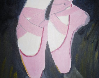 Ballet Shoes (acrylic on canvas)