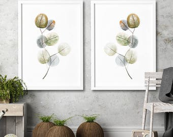 Floral Watercolor painting print Plant illustration Kitchen Decor wall art Home wall art decor modern interior contemporary wall art prints