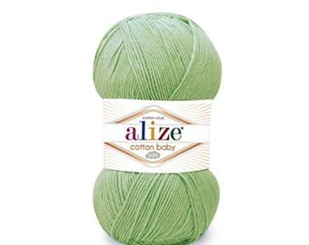 Alize COTTON BABY SOFT summer yarn spring yarn hand knit yarn Soft yarn cotton yarn acrylic yarn color choice baby yarn baby cotton