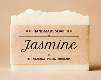 Jasmine soap - Handmade soap, all natural soap, organic soap bar. Scented soap. Vegan soap. Cruelty free soap. Just because gift for her
