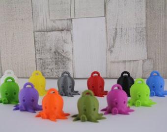 Gift Charm Octopus 3D printed key chain - cute geek Kawaii style