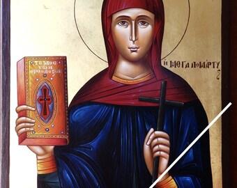 Saint Euphemia, orthodox icon, byzantine icon, original hagiography, Santa Eufemia, Sainte Euphémie, η Αγία Ευφημία, hand painted on request