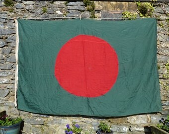 Beautiful Bangladesh Ship's Flag. Vintage Maritime Flag