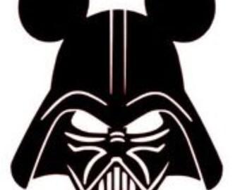 Disney Star Wars Mickey Darth Vader- Yeti Tumbler Decal-30oz