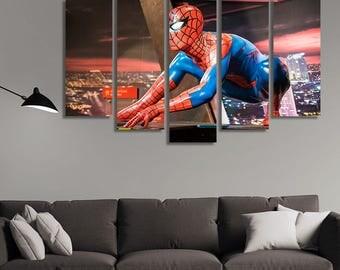 Spiderman Wall Art spiderman wall art | etsy