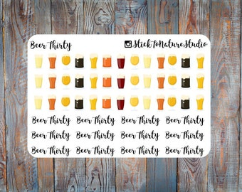 Beer Thirty Stickers