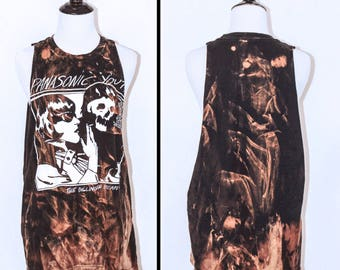 Dillinger Escape Plan punk bleached distressed shirt - Reworked band tee
