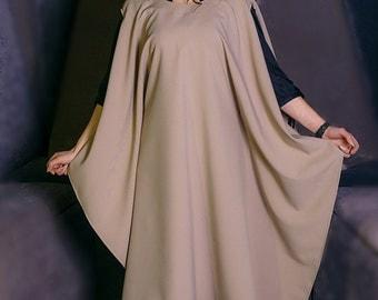 Cape / black cape / gray cape / beige cape / black coat / trendy cape / beige coat