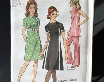 Vintage 1970's UNCUT Simplicity 9209 Sewing Pattern