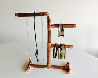 Copper Pipe Jewellery Stand / Holder