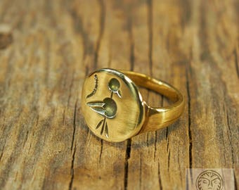 replica bird ring ancient ring bird jewelry medieval ring tribal jewelry - Medieval Wedding Rings
