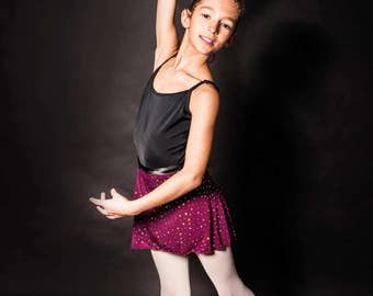 Teenage Ballet wrap skirt - red with sequins
