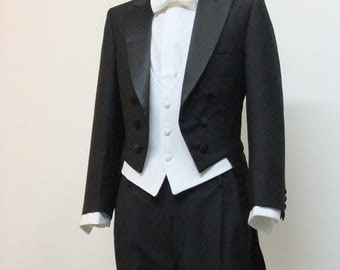 Frak tailcoat full Gown jacket adjustable vest trousers papillon Made in Italy