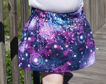 Space Skirt - Geeky Girl Clothes - Nerdy Toddler Outfit - Kids Science Gift - Galaxy Skirt - Space Party - Custom Play Skirt- Back to School