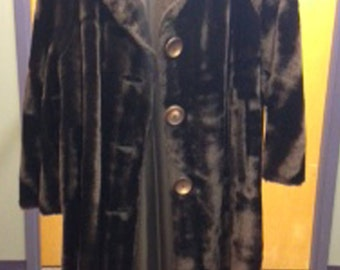 Women's Brown Fur Coat, small, Kwong On