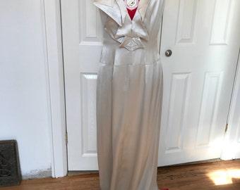 Very Deep V Evening Dress