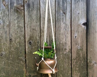 Macrame Plant Hanger - Natural Cotton Rope