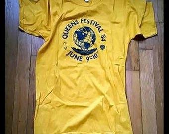 Vintage 1980s QUEENS FESTIVAL 84' Pacer T - shirt