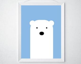 Baby Polar Bear Print