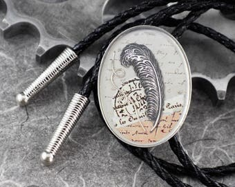 Writer Quill Manuscript Bolo - For the Love of Writing by COGnitive Creations