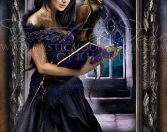 Rowena Ravenclaw / Harry Potter Art Print / Hogwarts Founder / House Ravenclaw/ Harry Potter Gift / harry potter Ravenclaw / Nerd Gifts