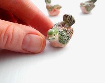 Miniature Porcelain Bird for Dollhouse Miniatures, Playscale Miniatures, Hand Painted, Birdhouse Supply, Bird Lovers, Bird Sculpture