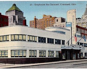 Ohio Vintage Postcard - Cincinnati Greyhound Bus Terminal (Unused)