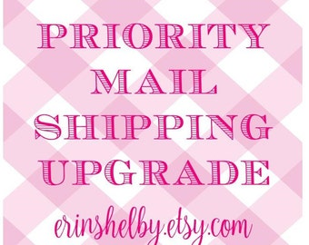 Shipping Upgrade to Priority Mail