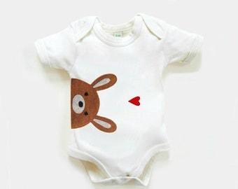 Baby Bunny Organic Bodysuit : Baby Girl, Baby Boy, Organic Baby Shower