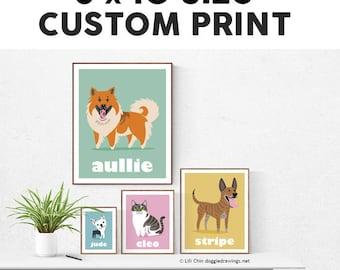 8x10 Custom Pet Print - choose your breed