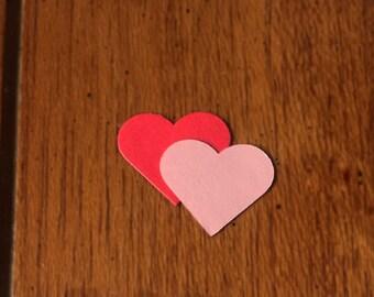 """Scalloped Hearts / Die Cut / 1.5"""" / Valentine DIY"""