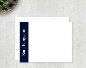 Personalized Stationery • Sidebar {FLAT} • 10 Note Cards with Envelopes • Personalized Stationary • Custom Thank You Notes • Thank You Cards