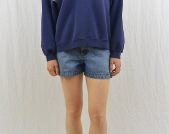 Vintage ADIDAS Hoodie, Hooded Sweatshirt, Size Medium, Striped Sleeve, Grunge, 90's Clothing, Tumblr Clothing