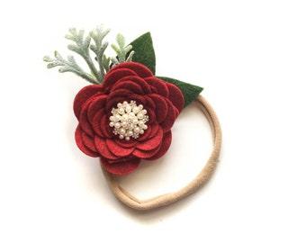 Cranberry elegance headband / baby headband / girl headband / nylon headband